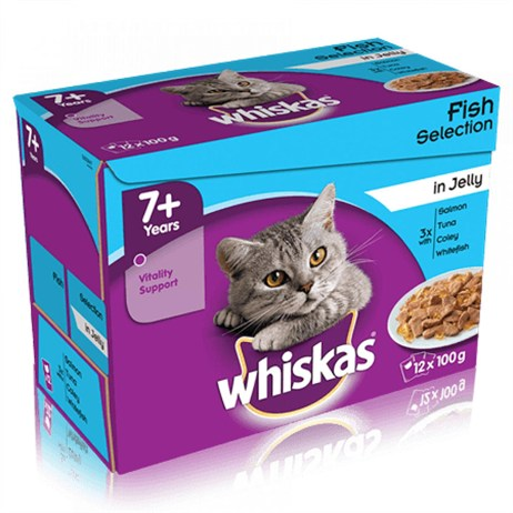 Whiskas Senior Fish Selection In Jelly Wet Cat Food Multi-Pack Pouches