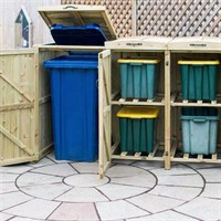 1 Wheelie Bin - 4 Recycle Box Combination Chest