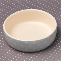 Petface Grey Spots Ceramic Dog Bowl - Small (32010)