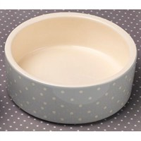 Petface Grey Spots Ceramic Dog Bowl - Large (32011)