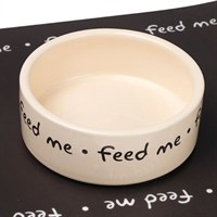 Petface Feed Me Ceramic Dog Bowl - Small (32012)