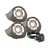 Techmar 3 Pack Lapis 12V 3W LED Waterproof Rock Light (3577443)