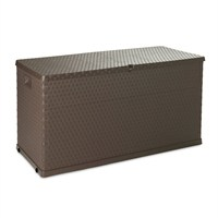 Rattan Line Cushion Box 420L Brown