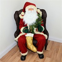 Inflatable Sitting Santa in Chair with Lights & Music - 48 Inch (XM-A6032)