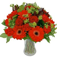 Hot Red Hand Tied Bouquet