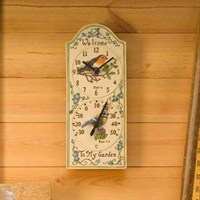 Outside-In Birdberry 12in Wall Clock and Thermometer (5064006)