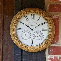 Outside-In Chelsea Wall Clock and Thermometer 13 (5065040)