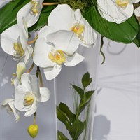 Artificial Trailing Phalaenopsis Orchid Tapered Vase Arrangement