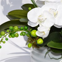 Artificial Phalaenopsis Orchid Front Facing Arrangement