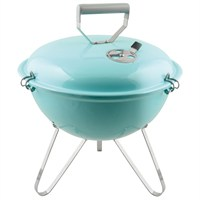 Charles Bentley 14inch Kettle Charcoal BBQ Grill - Light Blue (BBQKT14LB) DIRECT DISPATCH