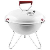Charles Bentley 14inch Kettle Charcoal BBQ Grill - White (BBQ/KT.14/WT) DIRECT DISPATCH