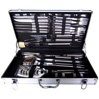 Charles Bentley 32 Piece BBQ Utensil Set with Case (BBQ.TS) DIRECT DISPATCH