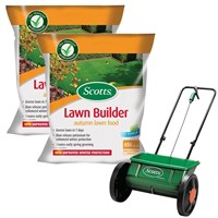Promotion! Buy 2 Scotts Lawnbuilder Autumn 400m2 and Get The Scotts Drop Spreader Half Price!