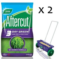 Promotion! Buy 2 Bags of Aftercut 3 Day Green Lawn Feed 400sqm and Get The Lawn Drop Spreader Half Price!