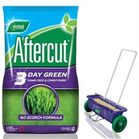 Promotion! Buy a Bag of Aftercut 3 Day Green Lawn Feed 400sqm and Get The Lawn Drop Spreader Half Price!