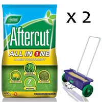 Promotion! Buy 2 Bags of Aftercut All in One 400sqm and Get The Lawn Drop Spreader Half Price!