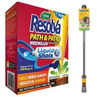 Promotion! Buy a Resolva Path & Patio Liquid Shots 6 Pack & a Hozelock Wonder Wand and Save £5!
