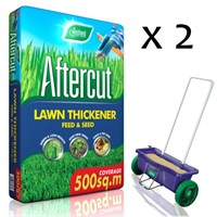 Promotion! Buy 2 Bags of Aftercut Lawn Thickener Bag 500sqm and Get The Lawn Drop Spreader Half Price!