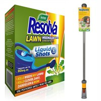 Promotion! Buy a Resolva Lawn Liquid Shots 6 Pack & a Hozelock Wonder Wand and Save £5!