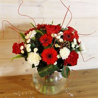 Christmas Candy Cane Coloured Hand Tied Bouquet