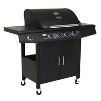 Charles Bentley 5 Burner Premium Gas BBQ in Black (BBQ13BLK) DIRECT DISPATCH