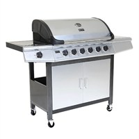 Charles Bentley 7 Burner Premium Gas BBQ in Grey (BBQ16) DIRECT DISPATCH