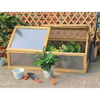 Charles Bentley Wooden Double Cold Frame / Greenhouse (GL/GH.05) DIRECT DISPATCH