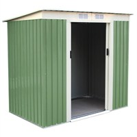 Charles Bentley Light Green 6ft x 4ft Metal Garden Shed (GLMTSHED09) DIRECT DISPATCH