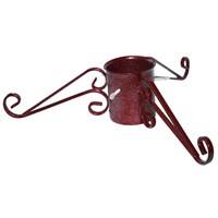 Tom Chambers 13cm (5inch) Ornate Christmas Tree Stand - Mulberry (CT003RED)