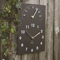 Ashortwalk ECO Clock/Thermometer Black (C/Th)