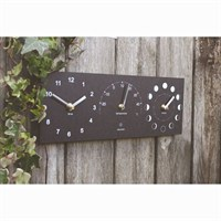 Ashortwalk ECO Moon, Time and Thermometer Black (MTTH)