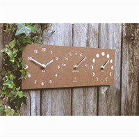 Ashortwalk ECO Moon, Time and Thermometer Brown (MTTH-Br)