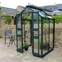 Eden Greenhouses Birdlip 44 Long-Pane Toughened Glass - Green (V01570)
