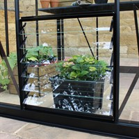 Eden Greenhouses 6 Blade Louvre Window Toughened Glass - Black (70215)