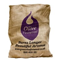Green Olive Firewood in a Hessian Bag 10kg (FOFHB10)