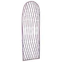 Gardman Framed Willow Lattice Trellis Panel with Arched Top - 1.2m x 0.45m (07516)