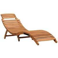 Charles Bentley Large Folding Hardwood Curved Sun Lounger (GL/GF.LOUNGE/1) DIRECT DISPATCH