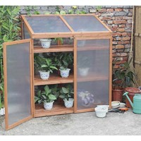 Charles Bentley Wooden Large Double Cold Frame with Shelves (GL/GH.06) DIRECT DISPATCH