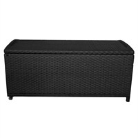 Charles Bentley Rattan Garden Storage Box in Black (GL/WF.BOX) DIRECT DISPATCH