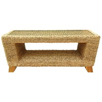 Charles Bentley Natural Water Hyacinth Conservatory Coffee Table (HMWHCTABLE) DIRECT DISPATCH