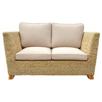Charles Bentley Natural Water Hyacinth Two Seater Conservatory Sofa (HMWHSOFA01) DIRECT DISPATCH