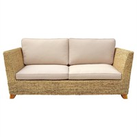Charles Bentley Natural Water Hyacinth Three Seater Conservatory Sofa (HMWHSOFA02) DIRECT DISPATCH