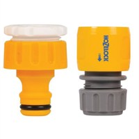 Hozelock  3/4in and 1/2in Outdoor Tap Connector and Hose End Connector (2175-6025)