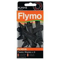 Flymo Plastic Blades - Pack of 6 (FLY015)