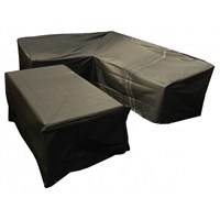Bosmere 'L' Shaped Large Dining Cover - Right Side Long - Black (M668)
