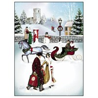 Noel Tatt 8  Pack Charity Christmas Cards - Village Scene - 12.5x17cm (41509)