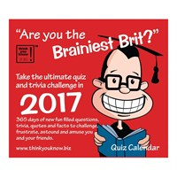 Otter House - Are You The Brainiest Brit Boxed Calendar 2017 (26975)