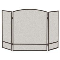 Panacea Black 3 Panel Arch Screen with Double Bar (15951)