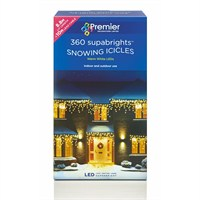 Premier 360 Warm White LED Snowing Icicles (LV062394WW) Christmas Lights