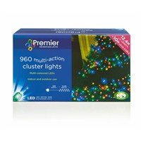 Premier 960 Multi-Coloured LED Multi-Action Cluster Lights (LV128228M) Christmas Lights
